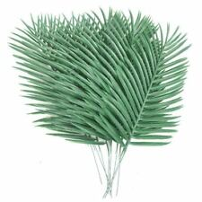 10PCS Artificial Palm Tree Faux Leaves Green Plants Greenery for Flowers ArrI6F1