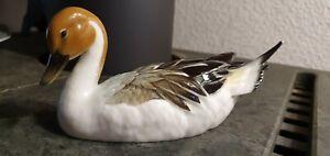 Hutschenreuther Ente Porzellan Figur Netzsch Vogel Wasservogel DEFEKT