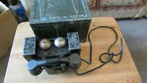 Vintage Set F MK1 Field Telephone in Wooden Box