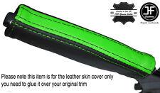 Nero & Verde in Pelle e del freno di emergenza MANIGLIA cover si adatta Camaro Firebird 93-02