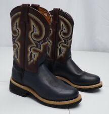 Masterson Boot Co. Womens 8M Black RB1660W Leather Western Cowboy Boots
