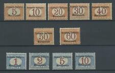 COLONIE SOMALIA 1906 TASSE 11V. 3 **  CERT.