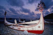 538080 Fishing Canoe Made By Yami People Lanyu Island Taiwan A4 Photo Print
