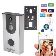 Wi-Fi Video Doorbell Battery Powered Camera, Wireless Doorbell Camera with Built