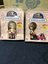 Vtg NIB Lot Of (3) Adorables Baby Dolls Strollers On The Go & Strollers Meritus