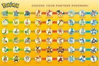 POKEMON ~ CHOOSE YOUR PARTNER! ~ 24x36 Poster ~ NEW/ROLLED!
