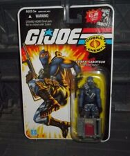 G I GI JOE 25TH ANNIVERSARY SERIES COBRA SABOTEUR FIREFLY BLUE SUIT FIGURE wwww