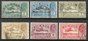 INDIA 1929 AIR MAIL SET *** VERY FINE USED ***