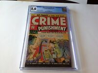 CRIME AND PUNISHMENT 30 CGC 5.0 WHITE PGS HIGHEST GRADED COPY LEV GLEASON COMICS