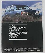 Jeep Cherokee Grand Wagoneer CJ-7 3 Page Fold-Out Sales Brochure / Literature