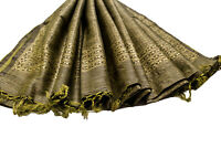 Vintage Indian Long Dupatta Pure Cotton Hand Woven Stole Scarf Hijab Sarong Wrap