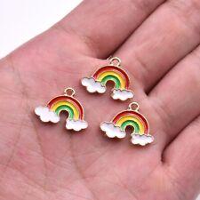 10PC Cute Enamel Rainbow Charm Penant 19*14mm For DIY Earrings/Bracelet