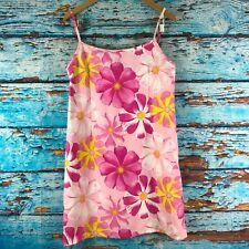 Rampage Swim Womens Cover Up Dress Juniors Size 11/12 Pink Floral