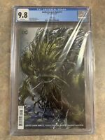 Justice League Dark #12 CGC 9.8 NM Clayton Crain Variant Cover DC Swamp Thing