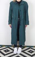 Trench Coat Raincoat Mac UK 14 Large PETITE  Long   (KCC)