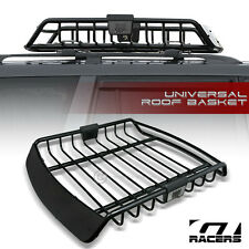 UNIVERSAL BLK ROOF RACK CAGE BASKET TRAVEL LUGGAGE HOLDER TOP TRAY w/FAIRING G18