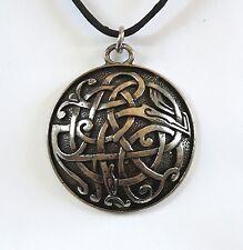 Celta Kells Serpiente Bestia Collar con Colgante Peltre Asgard hecho a mano en