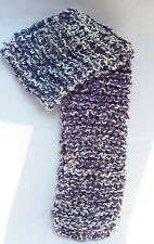 Handknit Brown Scarf Mulit Color Yarn Scarves 60""