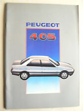 Gros catalogue PEUGEOT 405    1988     prospectus  brochure