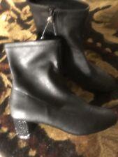 Badgley Mischka American Glamour Rhinestones Heel   Bootie Sz 7.5