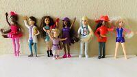 Mattel Barbie Mini Dolls Lot of 8 Collectible Figures Toys Mcdonalds Happy Meal