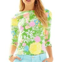 LILLY PULITZER | julienne top in hibiscus stroll L womens casual tee blouse