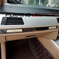 Real Carbon Fiber Car Copilot Panel Cover Trim For BMW E90 E92 E93 2005-2012