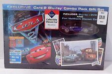 CARS 2 Blu-ray DVD + Finn McMissile Diecast Car Disney Pixar Exclusive Gift Set