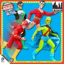 SUPER POWERS; 8 INCH ACTION retro mego FIGURES Full set of 4