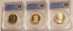 2013 P D S Willian McKinley BU & Proof Dollar Set ANACS 67, 67, 70 1st Strike