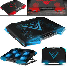 5 Fan Gaming Laptop Cooler Led Dual USB Laptop Cooling Pad W/ Adjustable Stand