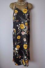 M&S SIZE 8  CASUAL COCKTAIL ELEGANT BLACK MIX FLORAL DRESS BNWT RRP £39.50