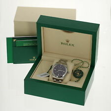 New Rolex Watch Oyster Perpetual 114300 Stainless Grape Dial w/ Box Papers Tags