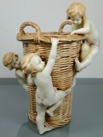 Amphora,Turn & Teplitz,Austria,Korb,Putten,Keramik,Jugendstil,Höhe: ca. 32,5 cm!