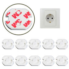 10PCS Safety Covers Cap Anti Electric EU Wall Plug Socket Protective Protective