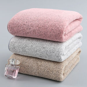 Bamboo Charcoal Coral Velvet Bath Towel Adult Soft Absorbent Microfiber Towel/