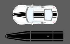 Fits Toyota GT86 Coupe Double Stripe Graphic Set. Bonnet, Roof & Bootlid Blanco
