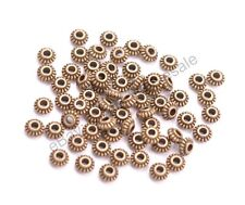 100Pcs Tibetan Silver/Gold/Bronze Roundelle Spacer Beads Jewelry Findings D3023