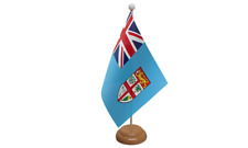 Fiji Small Table Flag with Wooden Stand