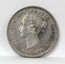 1900 Canada 5 Cents Silver Km2 Victoria Oval 0's - VF #01264796g