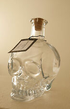 Pottery Barn Graveyard Skull Glass Decanter New with Tag