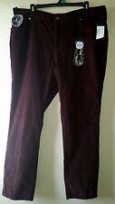 New W/Tags Merlot Wine women's RHYTHM IN BLUES Skinny Size 16 Corduroy Pants
