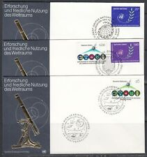 United Nations Scott 373, G109-10 & V27 Combo FDC - Space