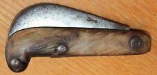 très ancien et gros couteau serpette avec marquage sur la lame