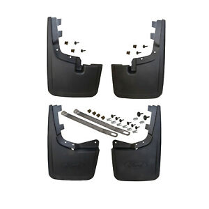 NEW OEM 2021 Ford F150 Molded Black Splash Guards Mud Flaps without Wheel Lips
