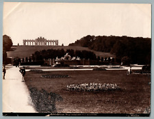 Autriche, Wien Schonbrunn Neptangrotte mit Gloriette vintage print Tirage albu