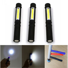 3PCS COB LED Pocket Pen Light Inspection Work Light Flashlight Torch with Clip