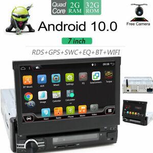 Autoradio 1 DIN Android 10.0 Car Bluetooth Wifi GPS NAVI USB DVD OBD AUX DAB+ FM