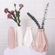 Origami Vase Imitation Plastic Flower Pot Basket Plants Home Decoration Bonsai
