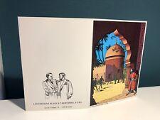 Carte Postale Double CP Blake et Mortimer Le Secret de l'Espadon